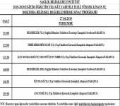 2019-2020 Güz Yarıyılı Bilim Sınav Programı (Hatırlatma)