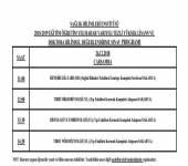 2018-2019 Bahar Yarıyılı Bilim Sınav Programı (Hatırlatma)